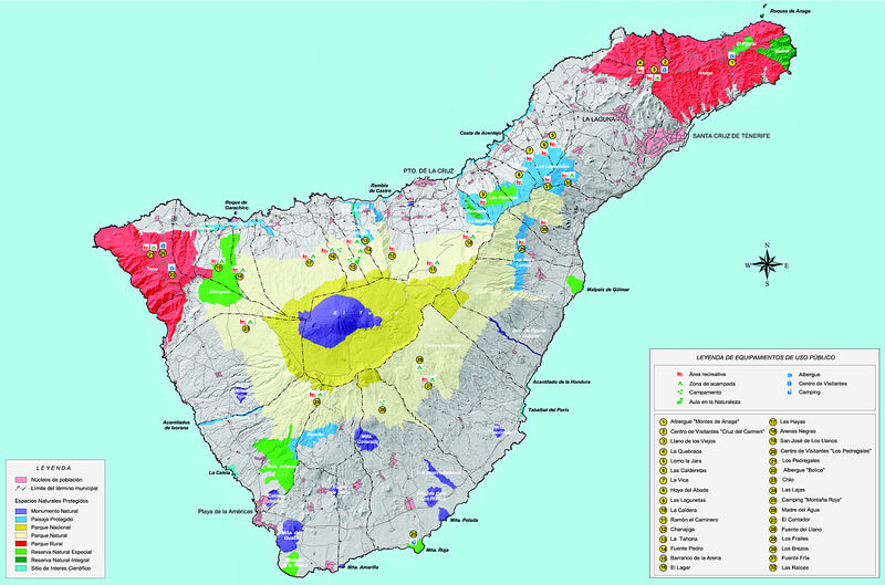 карта кемпингов тенерифе
