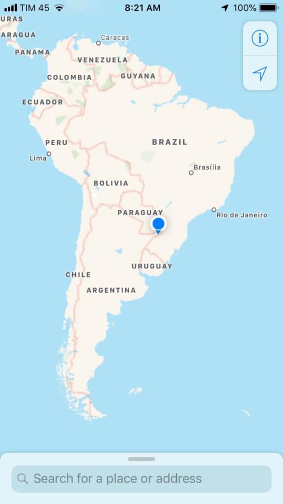 карта южной америки