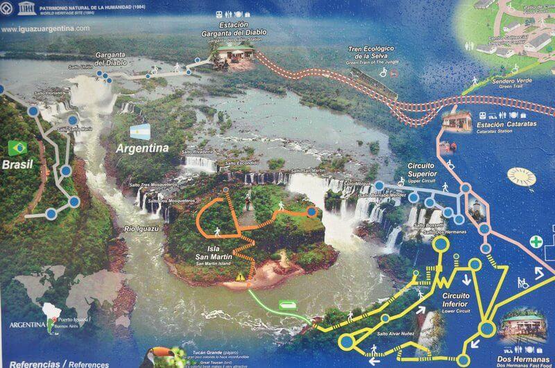 карта парка игуасу