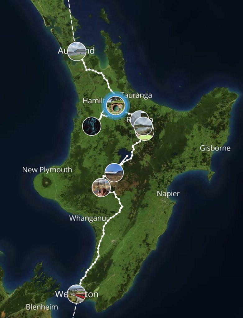 маршрут новая зеландия север